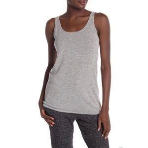 UGG Madelyn 100% Cashmere Knit Heather Gray Tank